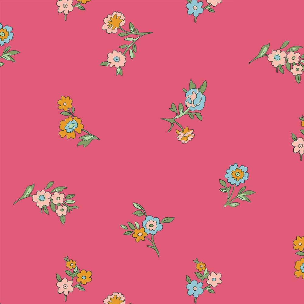 Liberty Of London Cottage Garden Collection - Little Vine Dark Pink